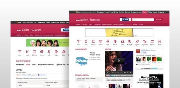 Nova página do UOL Horóscopo, que estreia nesta quinta-feira (15/03/2012) - Arte UOL