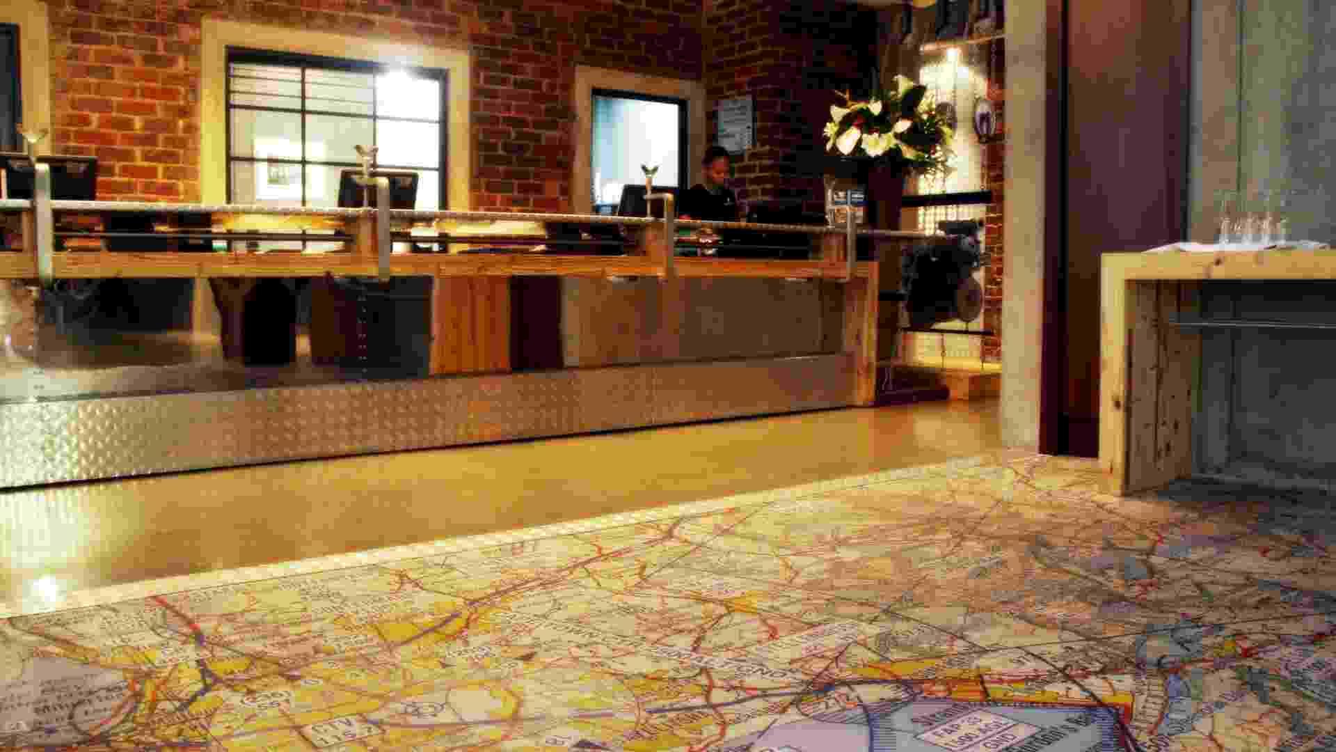 O Protea Hotel OR Tambo Airport, em Johannesburgo, África do Sul, tem decoração inspirada na aviação - Eduardo Vessoni/ UOL