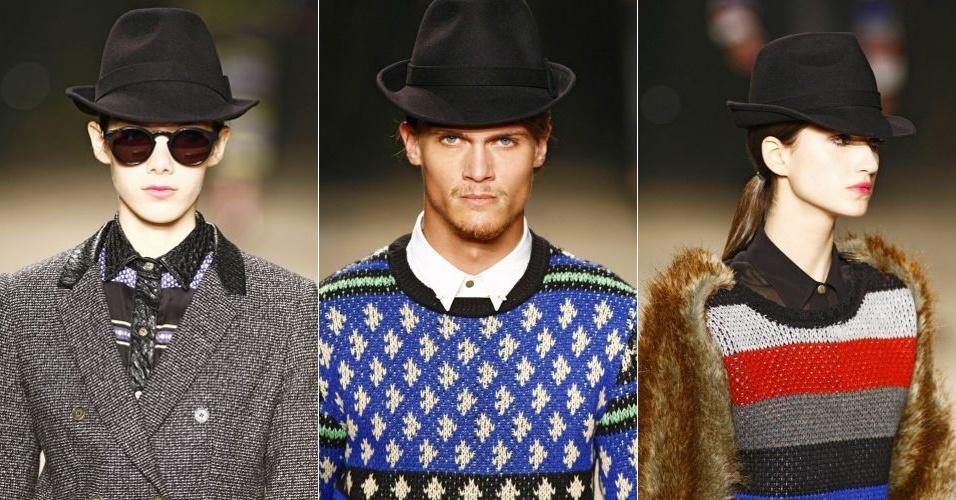 O chapéu fedora é um bom arremate para looks femininos ou masculinos. Esta  é a 077425b47ac