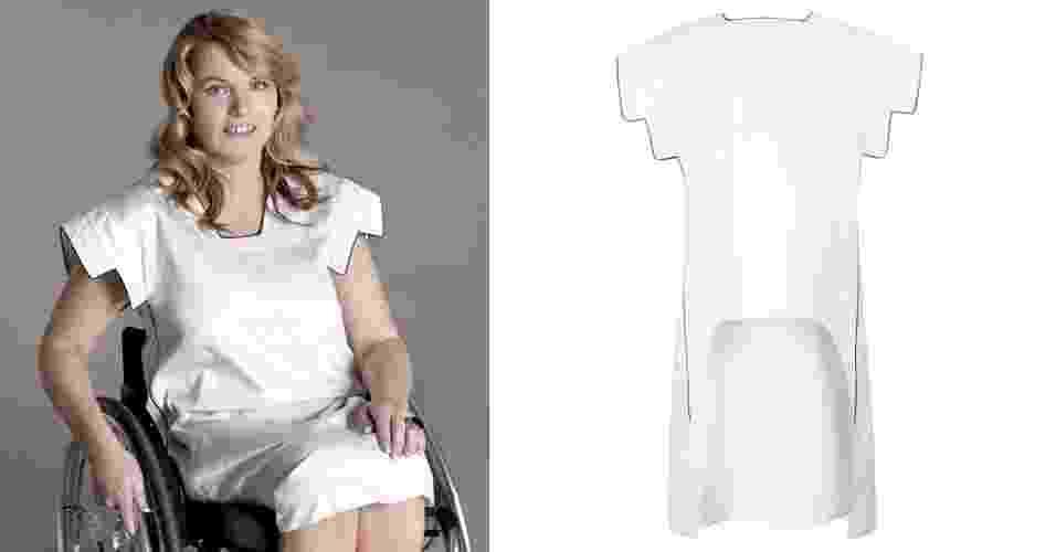 Vestido da Xeni, marca que cria roupas para mulheres com deficiência física - Divulgação