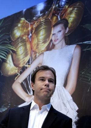 Karl-Johan Persson, presidente executivo da H&M, durante conferência em Estocolmo (29/03/2012) - Janerik Henriksson/AFP