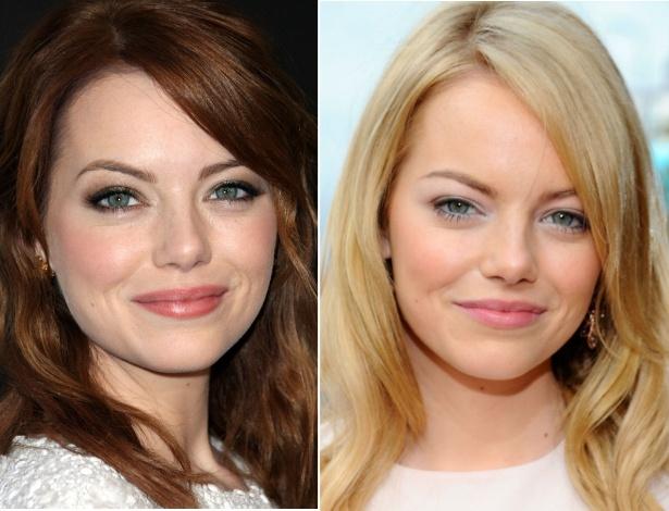 Antes e depois: Emma Stone deixa de ser ruiva e volta aos fios loiros  - Getty Images