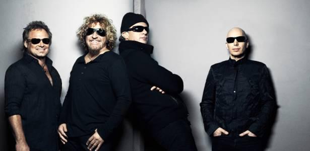 Michael Anthony, Sammy Hagar, Chad Smith e Joe Satriani, integrantes do Chickenfoot