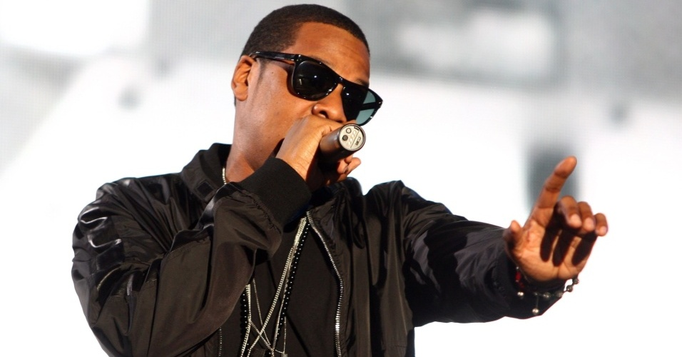O rapper Jay-Z no primeiro dia do All Points West Festival, em Nova Jersey (31/07/2009)