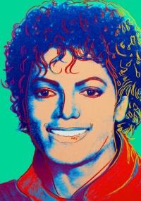 Retrato de Michael Jackson, feito por Andy Warhol em 1984