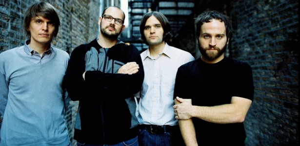 Os integrantes do Death Cab For Cutie, banda que compôs a música-tema de Lua Nova