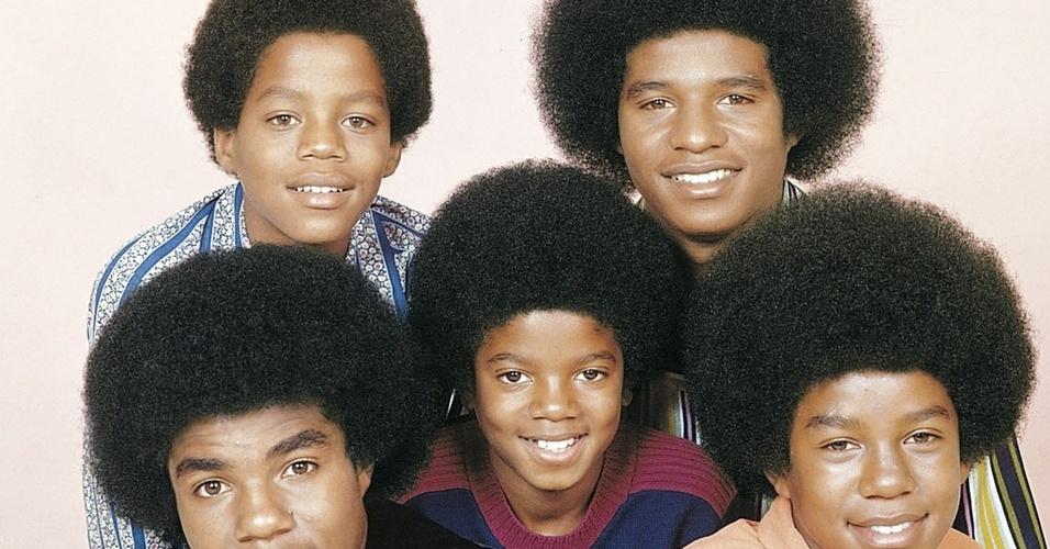 Os irmãos Jackson Five em foto para a gravadora Motown, em 1960