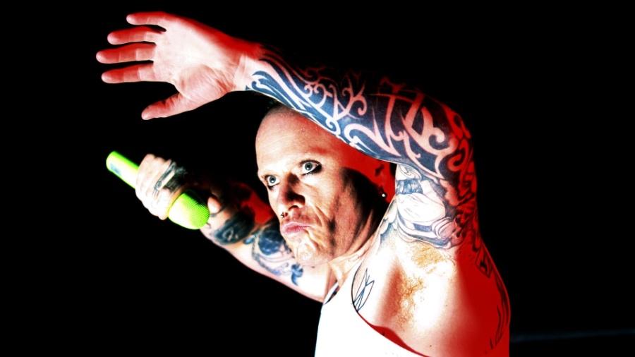 O vocalista Keith Flint durante show do Prodigy em São Paulo (23/10/2009) - Lucas Lima/UOL