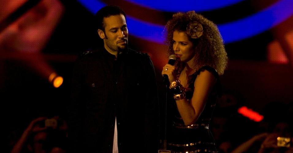 Ben Harper e Vanessa da Mata na premiação da MTV Video Music Brasil no Credicard Hall, em SP (02/10/2008)