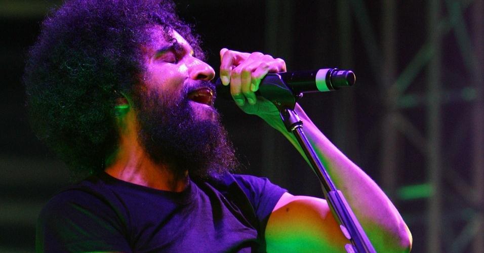 O vocalista do Alice In Chains, William DuVall, durante show da banda no Soundwave Festival em Brisbane, na Austrália (21/02/2009)