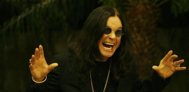 O músico Ozzy Osbourne durante coletiva de imprensa no Rio de Janeiro (02/04/2008)