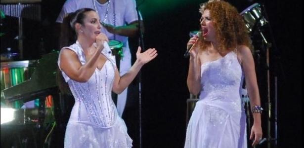 Ivete Sangalo e Vanessa da Mata dividem o palco em Salvador no Réveillon 2010 (31/12/2009)