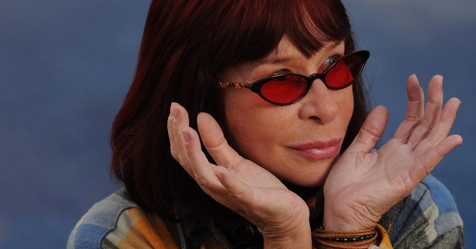 A cantora Rita Lee em São Paulo (20/05/2009)