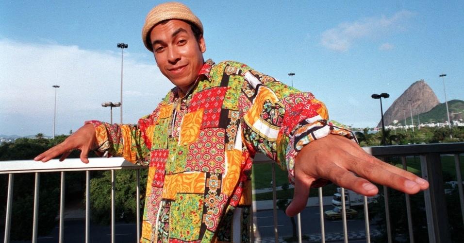 O cantor e compositor Chico Science no Rio de Janeiro (30/03/1994)