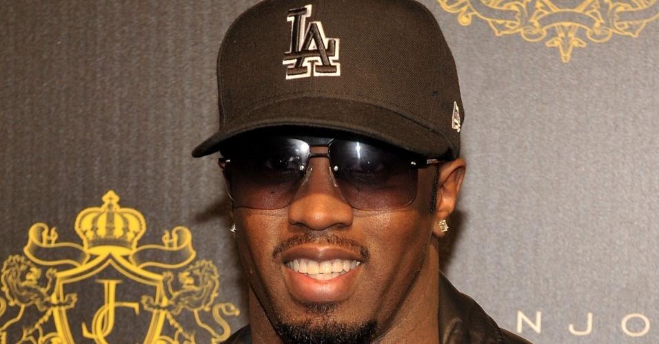 O rapper Puffy Daddy em evento em Nova York (23/01/2010)