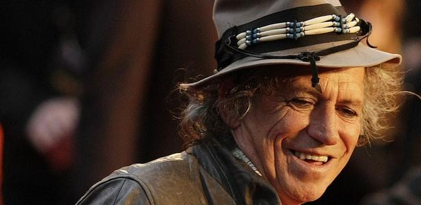 O guitarrista Keith Richards, em Londres (02/04/2008)