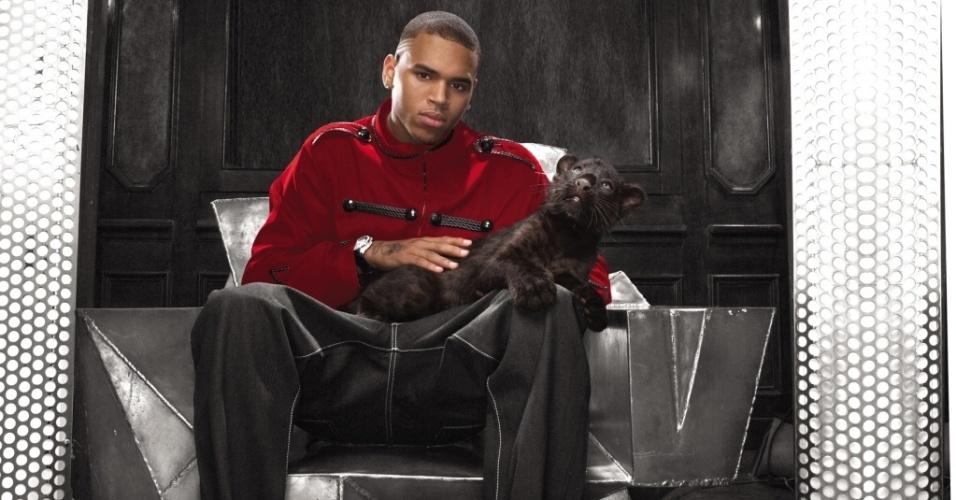 O cantor norte-americano Chris Brown