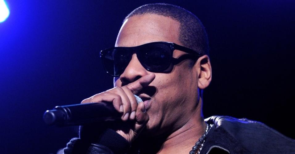 Jay-Z durante arpesentação em Los Angeles (26/03/2010)