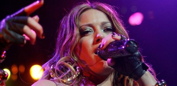 Hilary Duff durante show em Las Vegas (18/08/2007) - Getty Images