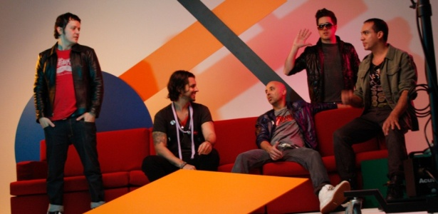 Os integrantes do Jota Quest em sessão de fotos para capa e encarte do disco em espanhol Jota Quest, em Belo Horizonte (06/2010)