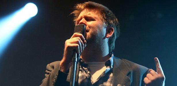 James Murphy, quando ainda fazia parte do LCD Soundsystem, durante show apresentador no festival inglês Reading, em 2010