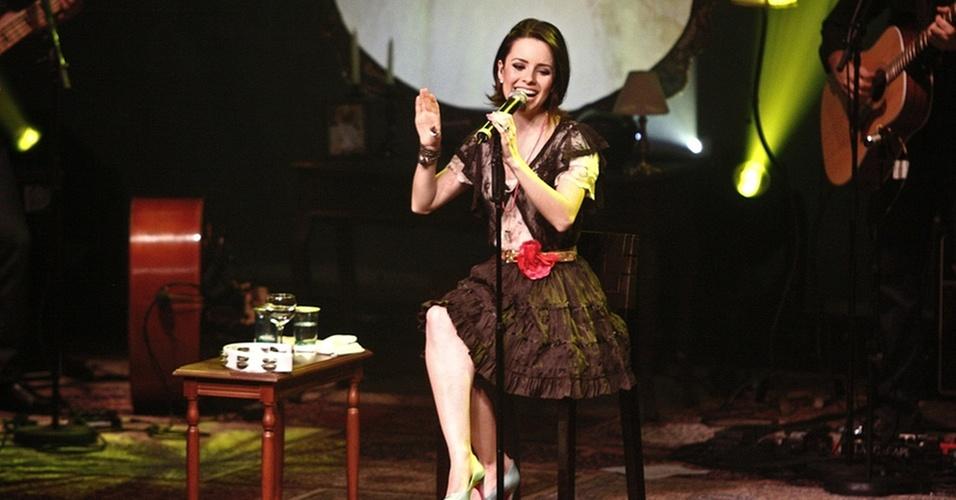 Sandy durante estreia da carreira solo com o show de