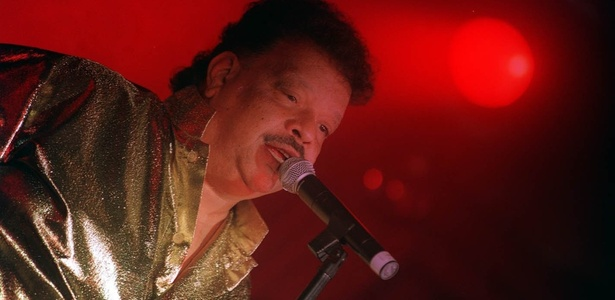 Tim Maia durante apresentação em São Paulo (27/10/1993) - Ana Ottoni/Folhapress