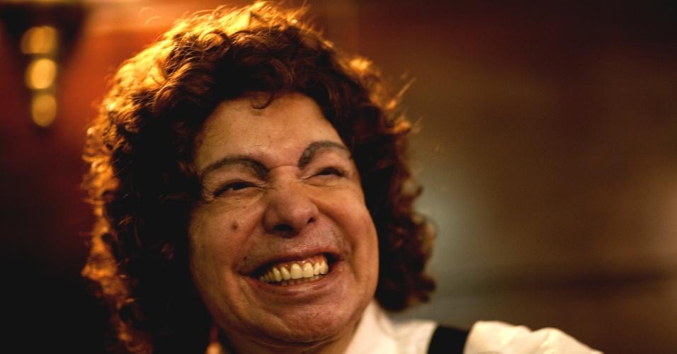 O cantor Cauby Peixoto no Bar Brahma, em São Paulo (02/03/2009)
