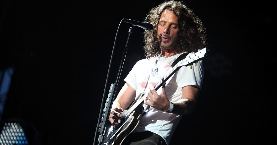 Chris Cornell durante show doSoundgarden no festival Lollapalooza, no Grant Park, em Chicago (08/08/2010)