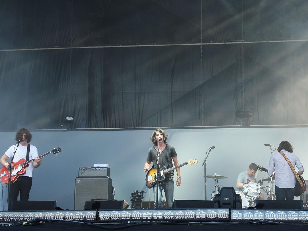 Show da banda inglesa Arctic Monkeys em festival em Nova Jersey, EUA (1º/08/2009)