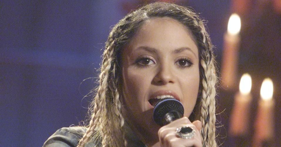 Shakira durante apresentação no