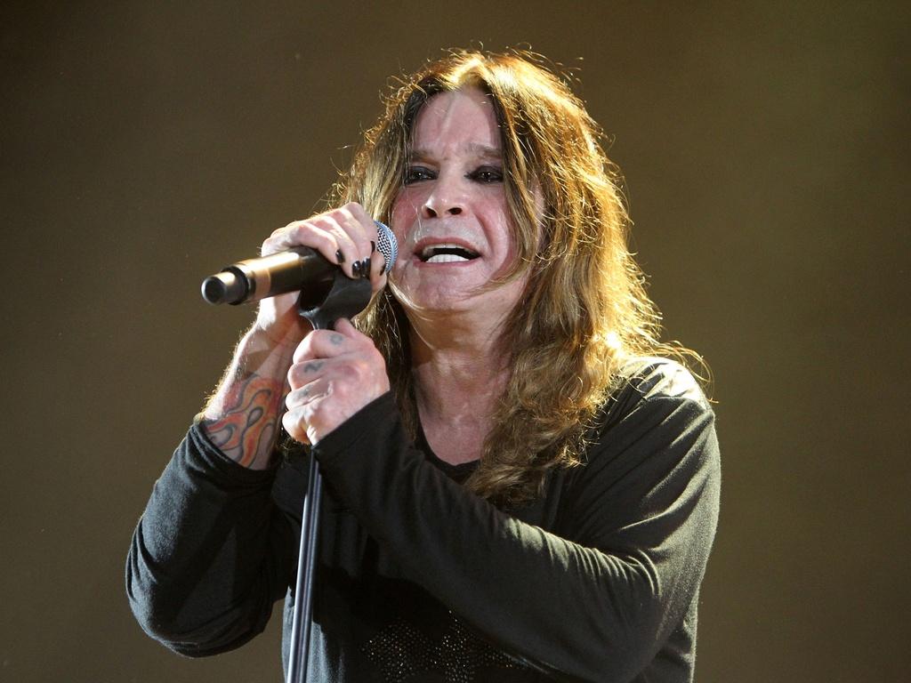 Ozzy Osbourne durante apresentação no Ginásio do Gigantinho, em Porto Alegre (30/03/2011)