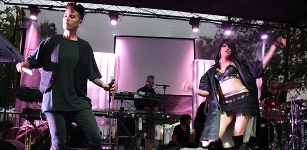 O grupo Hercules and Love Affair em apresentação no LA Weekly Detour Music Festival em Los Angeles, nos Estados Unidos (04/10/2008)