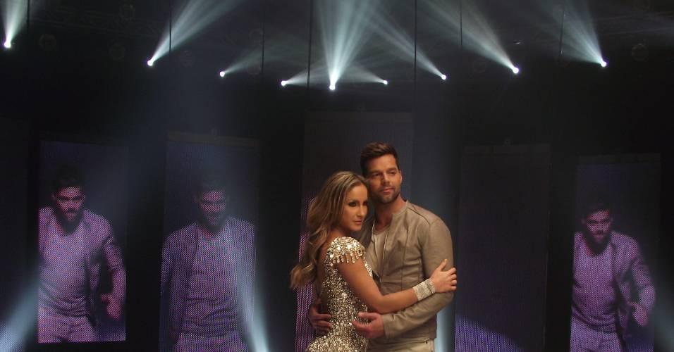 """Claudia Leitte grava clipe de """"Samba"""" com participação de Ricky Martin, nos Estados Unidos (29/07/2011)"""