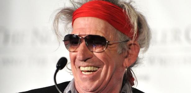 """Keith Richards ganha prêmio Mailer de """"Notável Biografia"""" por """"Life"""" em Nova York (9/11/11) - Getty Images"""