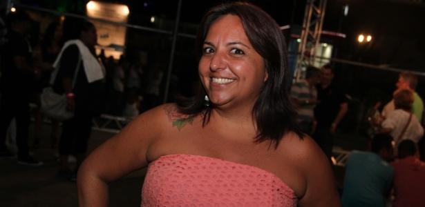 Sharon Acioly no bastidor do Festival de Verão de Salvador (28/1/12)